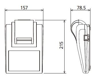 EP-90 Enhanced statistic dot matrix printer dimentions
